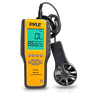 Pyle PMA90 Digital Anemometer / Thermometer with Dual Function 4-Digit LCD New