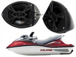 "Polaris PWC Marine Rockford Package P152 Custom 5 1/4"" Gloss Black Speaker Pods Pair"