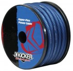 Kicker PWB050 0 Gauge Heat-Proof Blue Colored Hyper-Flex Jacket Power Wire Cable (PWB050)