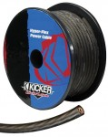 Kicker PWG8200 8 Ga Gray Colored Power Wire with PVC Hyper-Flex Insulation Material (PWG8200)