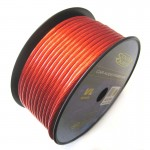 Sound Quest SQVLP0R 1/0 Gauge 50 Ft High Quality CCA Construction Red Power Wire