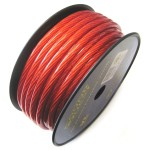 Sound Quest SQVLP8R 8 Ga 250 ft Copper Clad Aluminum Construction RED Power Wire