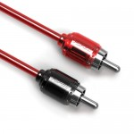 T-SPEC V6RCA-Y1 Compact 1 Female To 2 Male Y Adapter Woven Coaxial Cables