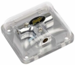 Stinger SPD511 Chrome Distribution Block (3) 4 Gauge Inputs or Outputs (T-Block)