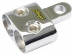 "Stinger SPT5201 Chrome (2) 1/0 Gauge Inputs to 5/16"" Ring Terminal"