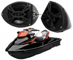 "Sea-Doo PWC Marine Rockford Package P152 Custom 5 1/4"" Gloss Black Speaker Pods Pair"