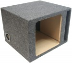 "Single 10"" Square Cutout Vented Subwoofer Box Enclosure (Gray)"