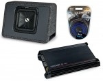 "Kicker Car Stereo Single L3 10"" TS10L3 4 Ohm Loaded Truck Sub Box, DX300.2 Amplifier & Amp Install Kit"