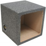 "Single 12"" Square Cutout Sealed Enclosure Subwoofer Box (Gray)"
