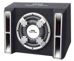 Pyle Car Stereo PL112SS Single 12'' Slim Designed Subwoofer Bass Box Enclosure System