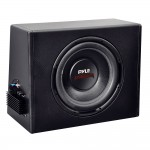 "Pyle Car Stereo PLPR12A 12"" Slim Design & High Powered / Amplified Subwoofer Enclosure System"