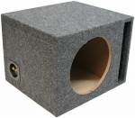 "Single 12"" Ported Enclosure Premium Sub Box (Gray)"