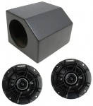 "ATV UTV Jeep Boat Golf Cart Dual 4"" Speaker Box Spray Coated Enclosure with Kicker DSC44 Speakers"
