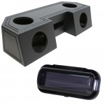 "Water Resistant ATV Front Guide Rail (4) 6 1/2"" Speakers & Radio Speaker Audio Spray Cpated Box with Receiver Cover"