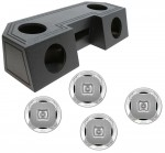 "Water Resistant ATV Front Guide Rail (4) 6 1/2"" Speakers & Radio Speaker Audio Spray Cpated Box with Lanzar AQ6CXS Speakers"