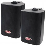 Boss MR4.3B 3-Way 4-Inch 200 Watts Max Indoor / Outdoor Marine Speaker Black
