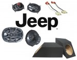 Kicker Package Jeep Wrangler YJ 1987-1995 KS460 & KS6930 Factory Speaker Box Upgrade