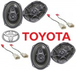 "Kicker Package Toyota Camry 2002-2006 Factory 6X9"" Coaxial Speaker Replacement (2) DS693 New"