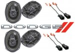 Kicker Package Dodge Caravan 2000-2003 Factory 6X9 Coaxial Speaker Replacement (2) DS693 New