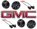 Kicker Package GMC Canyon 04-12 Extended Cab Truck Factory Speaker Replacement (2) KS650
