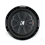 Kicker CWRT10 10 Inch 1 Ohm DVC CompRT Series Subwoofer with Progressive-Roll Spider (40CWRT101)