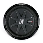 Kicker CWRT12 12 In Weather-proof 2 Ohm DVC CompRT Series Car Audio Subwoofer (40CWRT122)
