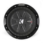 Kicker CWRT8 8 In CompRT Weather-Proof 2 Ohm DVC High Quality Subwoofer Speaker (40CWRT82)