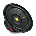 Kicker CWS10 10 In 4 Ohm Single Voice Coil Quad Venting Subwoofer with 600 Watt Peak Power (40CWS104)