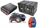 "Suzuki Samurai Kicker CVX10 & Rockford Amp Car Stereo Custom Fit 10"" Subwoofer Enclosure"