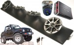 "Suzuki Samurai Powered Kicker KS525 / Rockford Amp Quad (4) 5 1/4"" Speaker Sound Bar Pod"