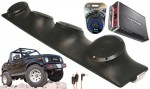 "Suzuki Samurai Rockford R152 & PBR300X4 Amp Quad (4) 5 1/4"" Speaker Sound Bar Pod"