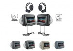 "Power Acoustik HDVD-9GRDK Dark Gray Headrest DVD 8.8"" Monitor & SDHC Card Reader"