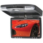 "Sound Storm S9CBL Mobile 9 Inch Overhead Flip Down 13.3"" TFT Monitor with Built-In DVD Player and IR Audio Transmitter"
