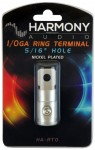 "Harmony Audio HA-RT0 Stereo Power or Ground 1/0 Gauge 5/16"" Ring Terminal - Nickel Plated"