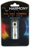 "Harmony Audio HA-RT4 Stereo Power or Ground 4 Gauge 5/16"" Ring Terminal - Nickel Plated"