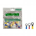 "Install Bay IBR17 Package of 24 5-16""/3-8"" Assorted Vinyl Rings Polybag"