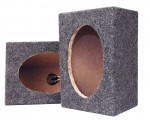 Pyramid PMB69MT Carpeted Unloaded 6 x 9 Inch Speaker Cabinet w/ Terminal Cups