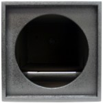 "Universal Spray Coated Single 12"" Vented Tube Subwoofer Enclosure Sub Box"