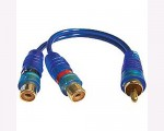 Sound Quest SQIBY2F Value Series  Female Y Blue RCA Interconnect Cable