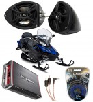 "Yamaha Snowmobile Kicker KS525 & Rockford Amp Custom 5 1/4"" Speaker Pod Package"