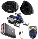 "Yamaha Snowmobile Rockford R152 &  PBR300X4 Amp 5 1/4"" Speaker Pod Package"
