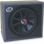 "Kicker SS12C Single 12"" Subwoofer Box Solo Classic 600 Watts RMS 2 Ohm [09SS12C2]"