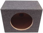 "Single 10"" Rearfire Subwoofer Box Enclosure Premium (Grey)"