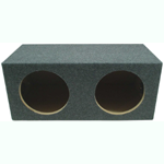 "Dual 12"" Rearfire Sub Box Sealed Enclosure (Gray)"