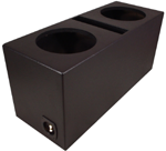 "Dual 15"" Ported Subwoofer Enclosure Vented Sub Box (Textured Black)"