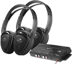 Wireless Headphones by Power Acoustik at HalfPriceCarAudio.com