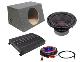 Power Acoustik Single 10-Inch Sub Box Packages at HalfPriceCarAudio.com