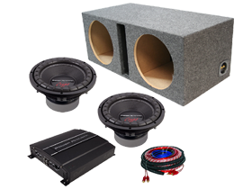 Power Acoustik Dual 10-Inch Sub Box Packages at HalfPriceCarAudio.com