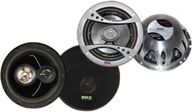 6.5-Inch Car Speakers by Pyle at HalfPriceCarAudio.com