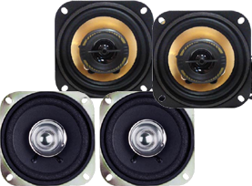 4 Inch Speakers by Pyramid at HalfPriceCarAudio.com